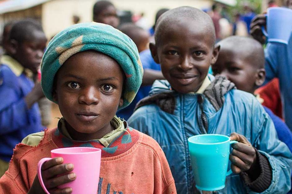 Two children at the Micah Project in Turi